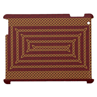 Gold And Red Celtic Rectangular Spiral Cover For The iPad 2 3 4