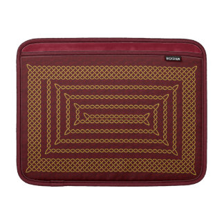 Gold And Red Celtic Rectangular Spiral MacBook Sleeve