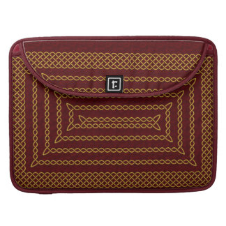 Gold And Red Celtic Rectangular Spiral MacBook Pro Sleeves