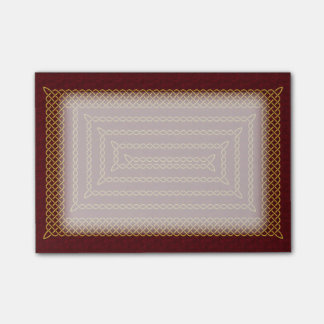 Gold And Red Celtic Rectangular Spiral Post-it® Notes