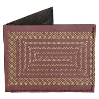Gold And Red Celtic Rectangular Spiral Tyvek Wallet