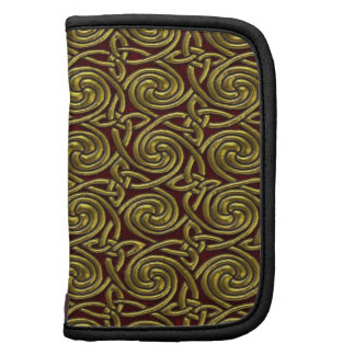 Gold And Red Celtic Spiral Knots Pattern Organizers