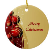 Gold and Red Christmas Balls Ornament ornament