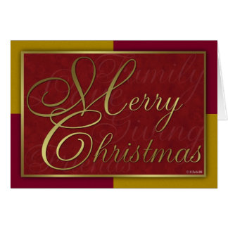 Gold and Red Christmas Card Greeting Card