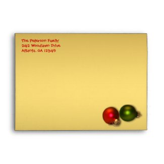 Gold and Red Christmas Envelope for 5