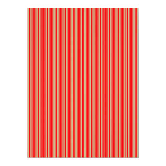 Gold and Red Christmas Stripes Customized Invitation Cards