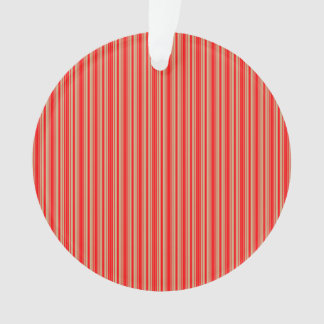 Gold and Red Christmas Stripes Ornament