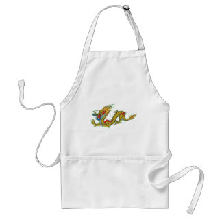 Gold and Red Dragon Adult Apron