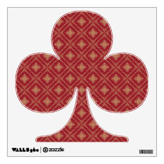 Gold and Red Fractal Pattern Club Wall Stickers