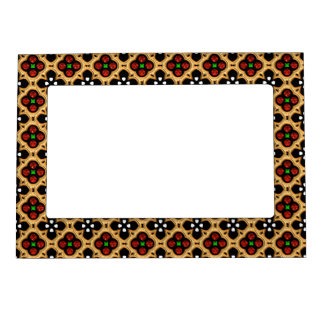 Gold and Red Holiday Bling Magnetic Frame