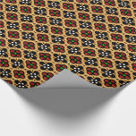 Gold and Red Holiday Bling Wrapping Paper