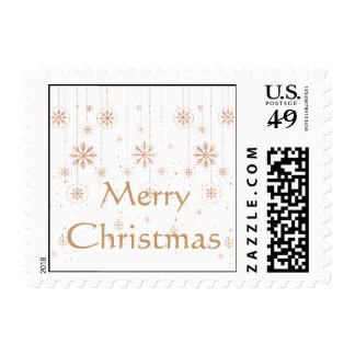 Gold and Red Holiday Christmas Ornaments Postage