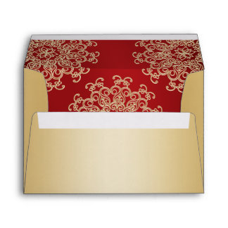 Gold and Red Indian Style Envelope