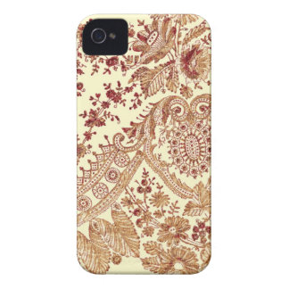 Gold And Red Lace Roses iPhone 4 Case