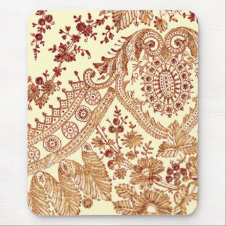 Gold And Red Lace Roses Mouse Pad