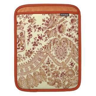 Gold And Red Lace Roses Sleeve For iPads