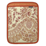 Gold And Red Lace Sleeve For iPads