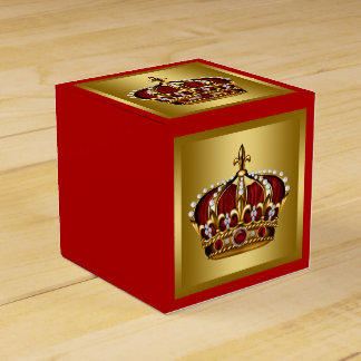 Gold and Red Prince Party Favor Boxes