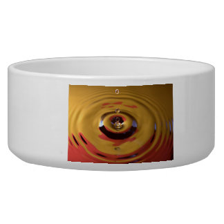 Gold and Red Water Drop Dog Water Bowls