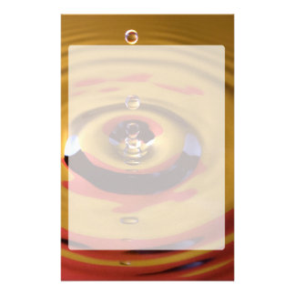 Gold and Red Water Drop Stationery
