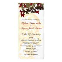gold and red Wedding program