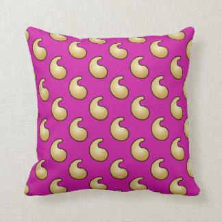 Gold and royal purple paisley pillow