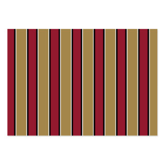 Gold and Scarlet Red Stripes - Team Colors Large Business Cards (Pack Of 100)