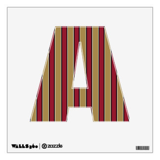 Gold and Scarlet Red Stripes Wall Sticker