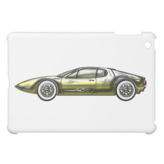 Gold and Siler Sports Car Case For The iPad Mini