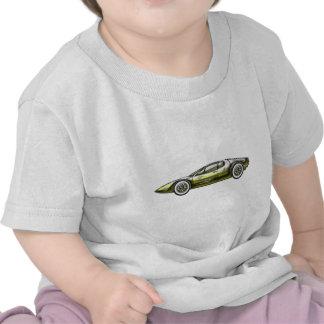 Gold and Siler Sports Car Tee Shirt