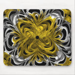 Gold and silver Abstract Mousepads