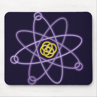 Gold and Silver Atomic Structure Mouse Pad