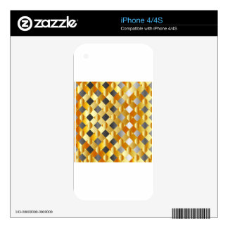 Gold and silver background decals for the iPhone 4S