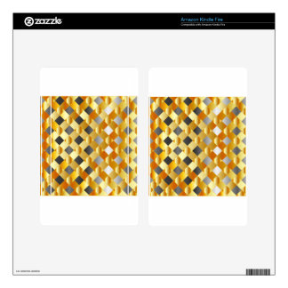 Gold and silver background skin for kindle fire