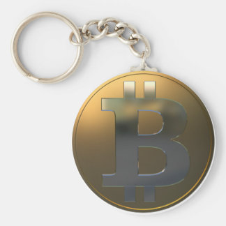 Gold and Silver Bitcoin Keychain