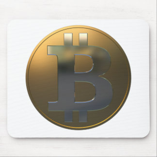 Gold and Silver Bitcoin Mouse Pad