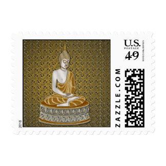 Gold and Silver Buddha postage