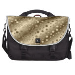 Gold and Silver Circles in a Pattern over Stripes Commuter Bags