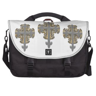 Gold and Silver Cross Commuter Bags