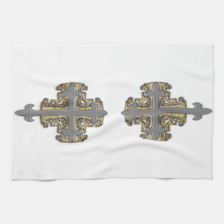 Gold and Silver Cross Towel