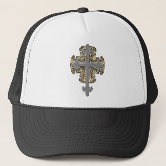 Gold and Silver Cross Trucker Hat