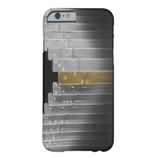 Gold and silver dominoes barely there iPhone 6 case