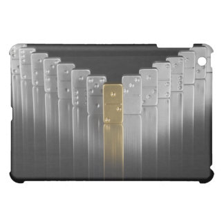 Gold and silver dominoes cover for the iPad mini