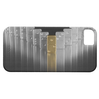 Gold and silver dominoes iPhone SE/5/5s case