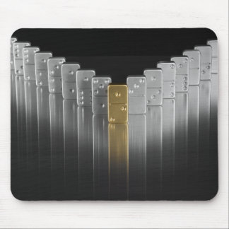 Gold and silver dominoes mouse pad