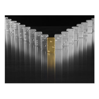 Gold and silver dominoes postcard