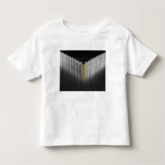 Gold and silver dominoes toddler t-shirt