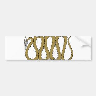 Gold and Silver Dragon Plate Bumper Sticker