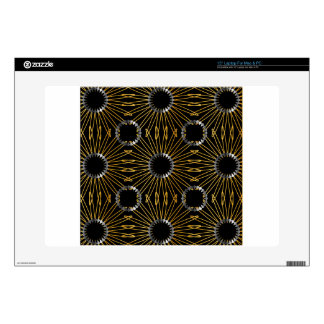 """Gold and silver floral artwork 15"""" laptop skin"""
