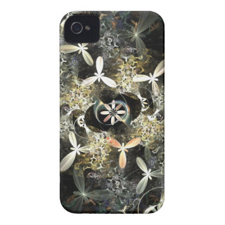 Gold and Silver Flowers Fractal iPhone 4 Covers